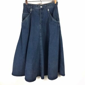 LizWear 100% Cotton Maxi Skirt Flare Modest 12